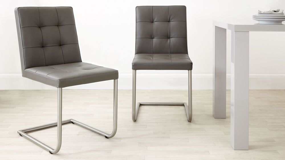 Contemporary Real Leather Dining Chairs