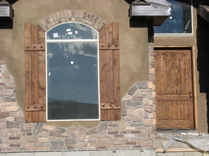 Perfect Rustic Exterior Shutters | Rustic Shutters   Custom Exterior Designs