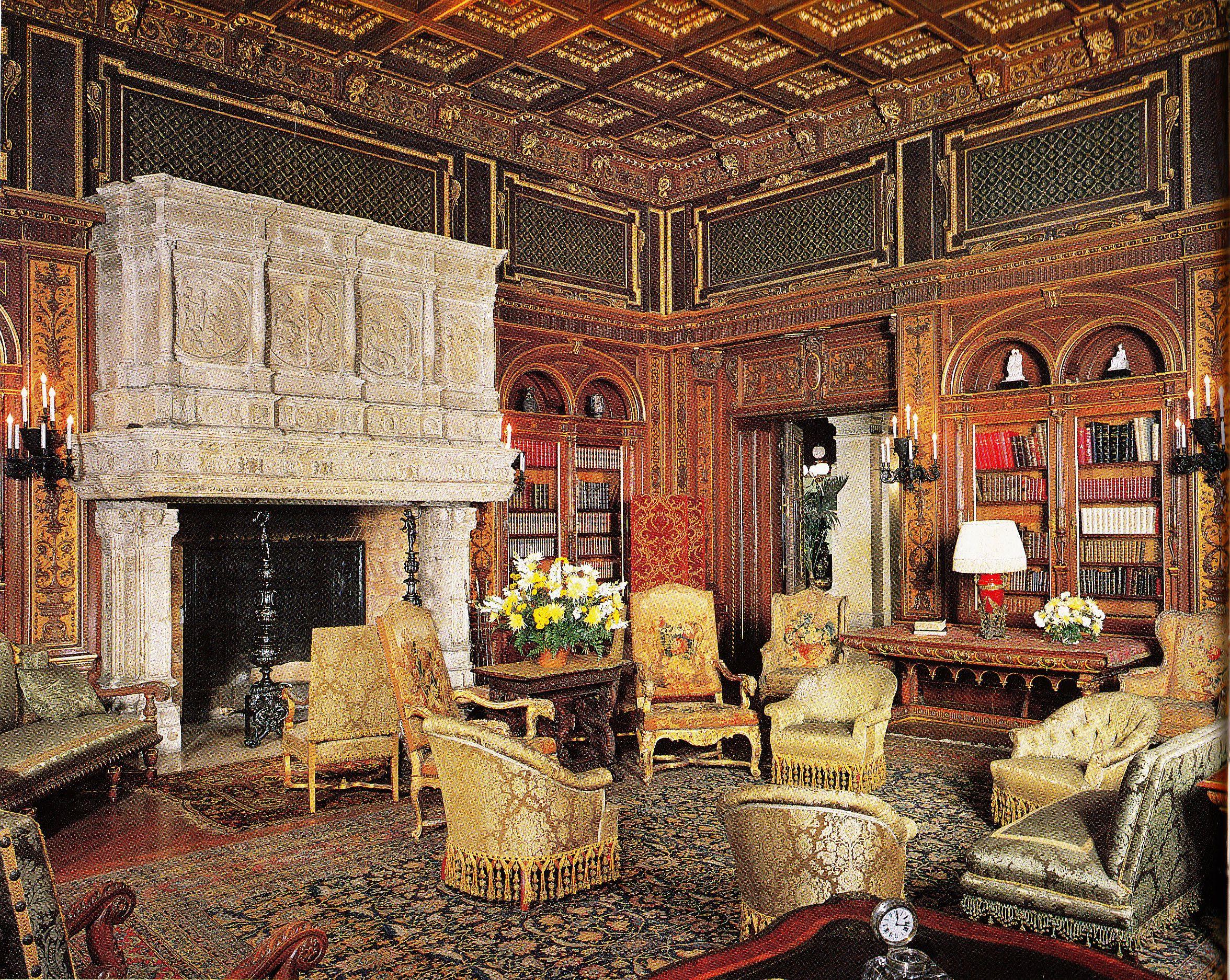 The Breakers - Library | Historic mansion, Vanderbilt ...