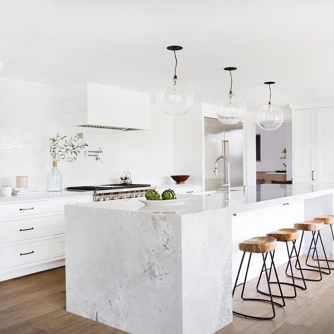 After All Kids Of Perfect Super White Granite Counters Glass Pendants Wood Bar Stools From Wi Home Decor Kitchen Kitchen Interior Interior Design Kitchen