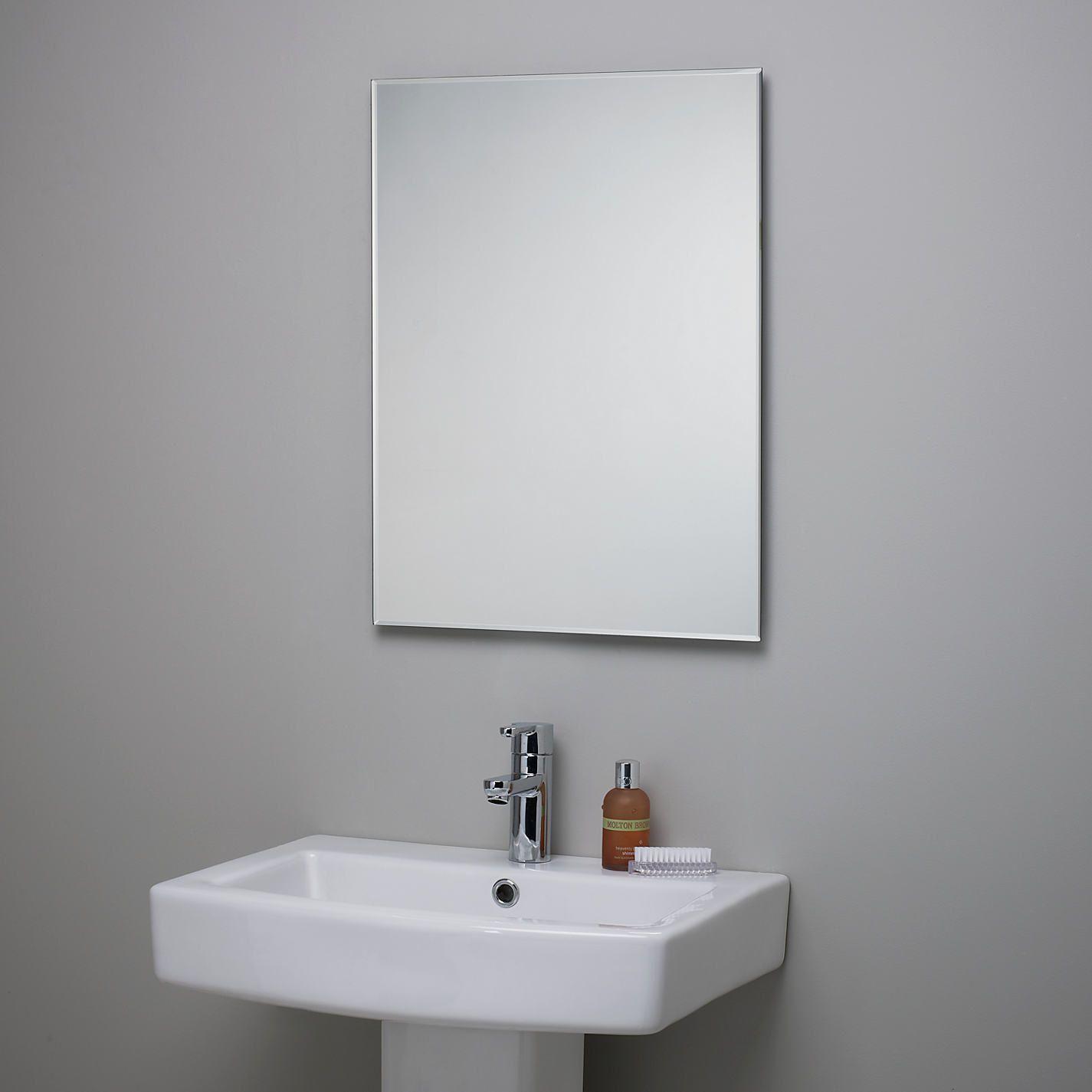 John Lewis Partners Bevelled Edge Bathroom Mirror Bathroom Mirror Design White Bathroom Mirror Modern Bathroom Mirrors