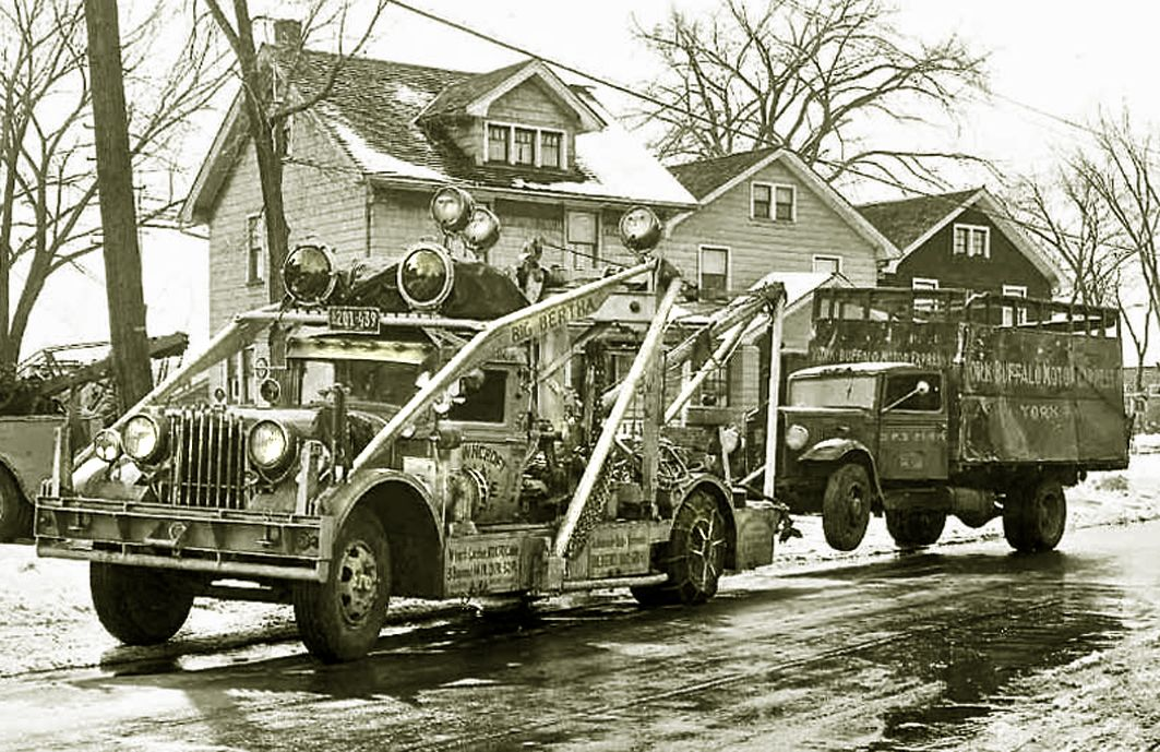 big bertha tow truck browncroft garage rochester ny usa circa 1940 big bertha tow truck trucks big bertha tow truck browncroft garage