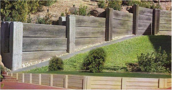 Cement Retaining Wall Looks Like Wood Home Retaining Walls