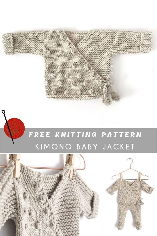 Kimono Baby Jacket Free Pattern and Tutorial