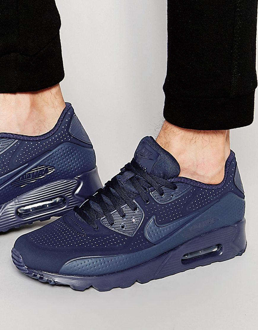 separation shoes be537 dd828 Image 1 of Nike Air Max 90 Ultra Moire Trainers 819477-400 ...