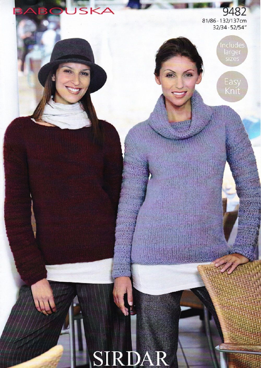Sirdar Knitting Pattern 9482, Ladys Sweaters | Knitting Sewing ...