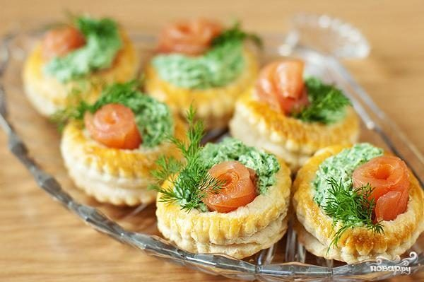 Тарталетки с лососем - пошаговый рецепт с фото на Повар.ру ...
