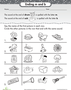 Ending Letter Sounds  Worksheets Phonics And Teaching Ideas