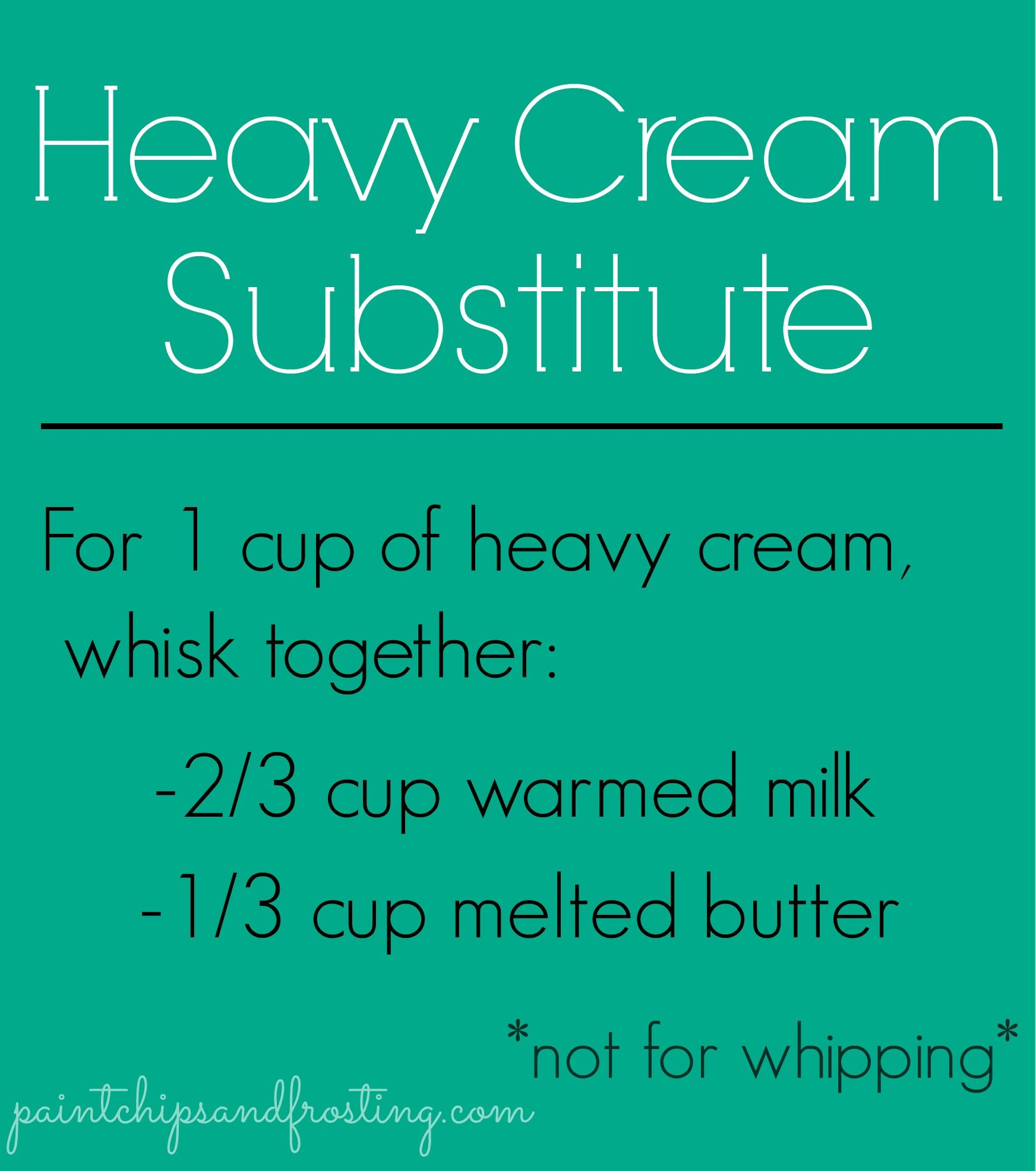Heavy Cream Substitute Baking Tips Cooking Tips Cooking Substitutions