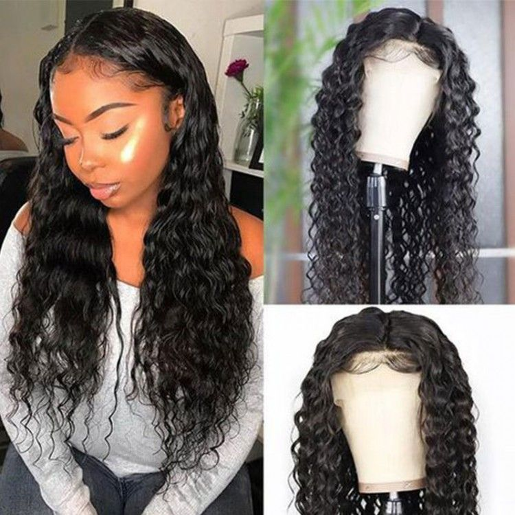 Beautyforever water wave natural hairline lace front wigs