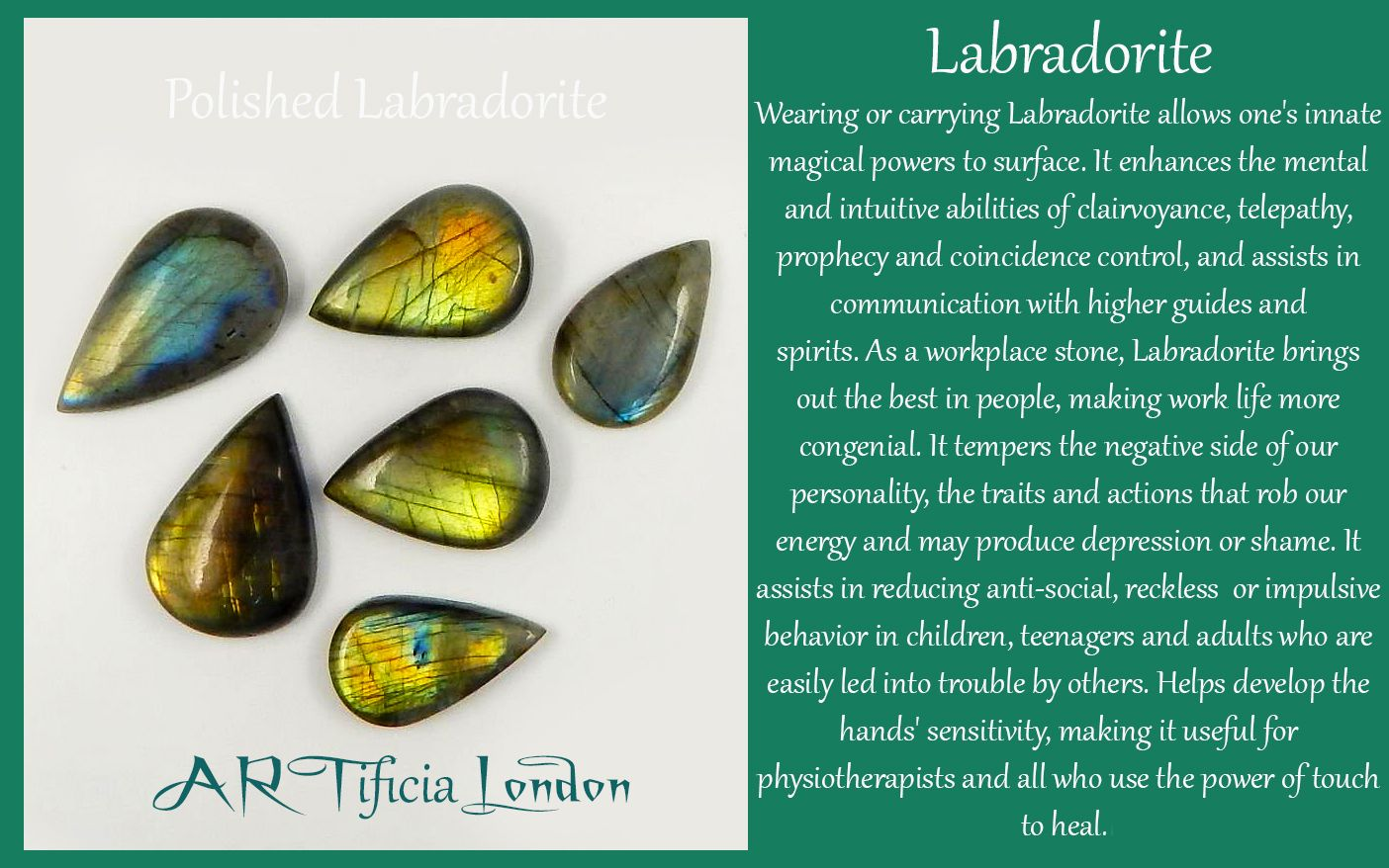 LABRADORITE Crystal Meaning and Uses ARTificiaLondon
