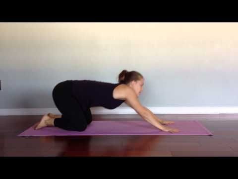 yoga 4 runners video cat/cow hip circles and gentle