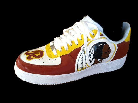 Hand Painted Custom Washington Redskin Shoes By