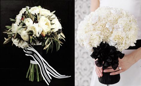 A Black and White affair | Bridal bouquets, Black bouquet and ...