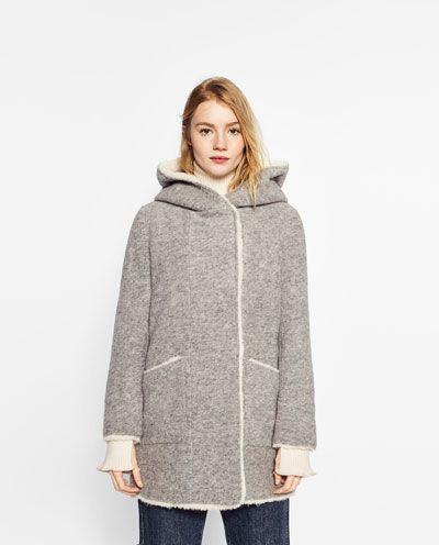 manteau doublure effet mouton tout voir manteaux 20 femme zara suisse v tements. Black Bedroom Furniture Sets. Home Design Ideas