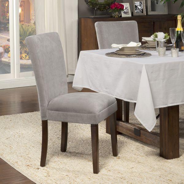 grey parsons chair