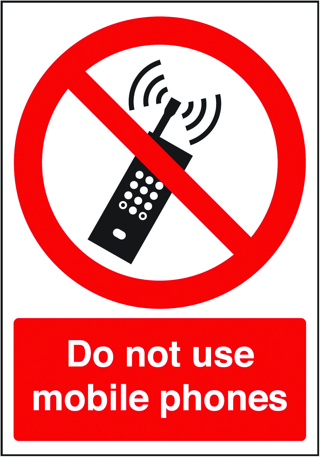 Do not use mobile phones sign. Beaverswood
