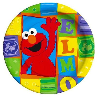 Details about SESAME STREET Elmo Loves You SMALL PAPER PLATES (8) ~ Birthday Party Supplies  sc 1 st  Pinterest & SESAME STREET Elmo Loves You SMALL PAPER PLATES (8) ~ Birthday Party ...