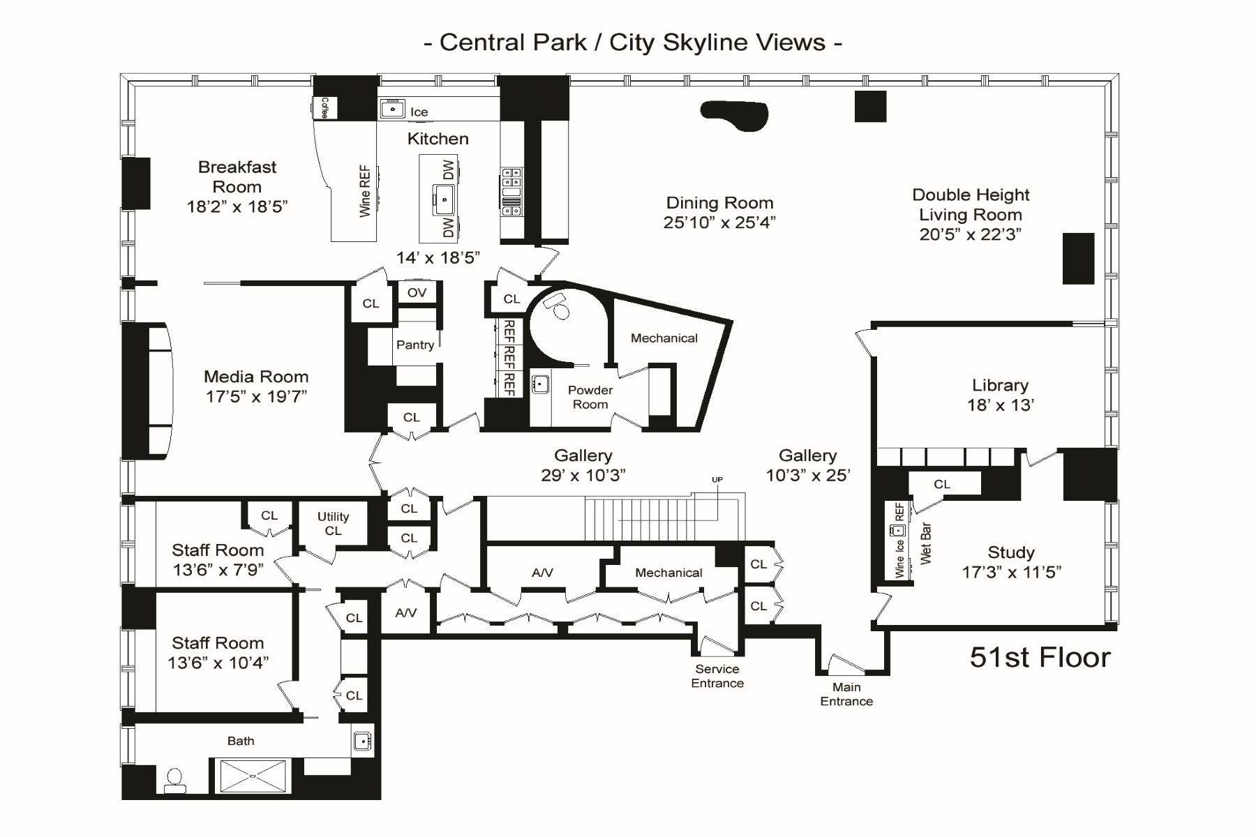 Luxurious Inspiring Penthouses Pent House Apartment Floor Plans Floor Plan Design
