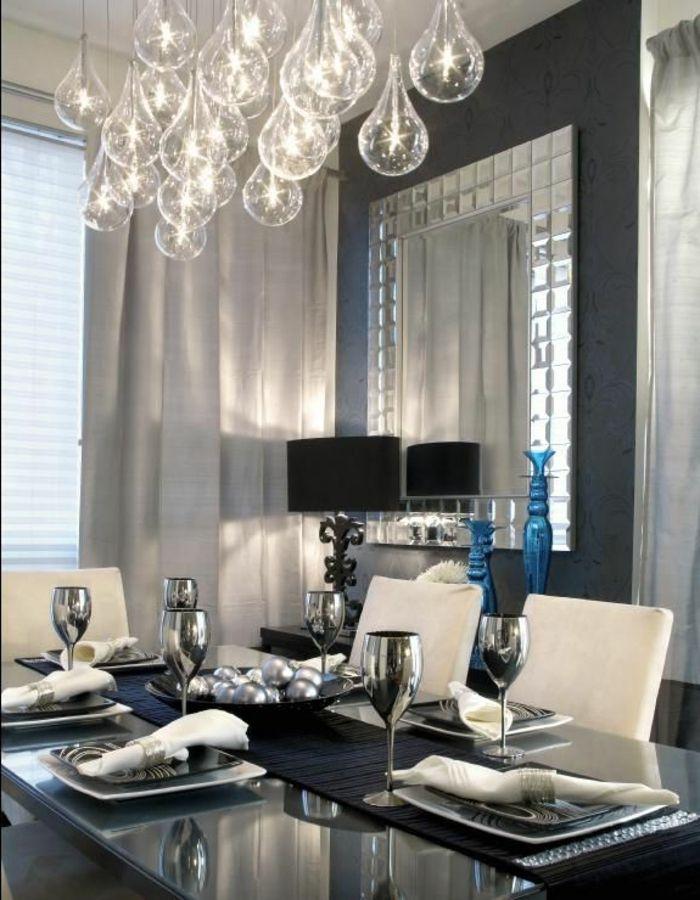 les-dernieres-tendances-dans-la-salle-a-manger-contemporaine - lustre pour salle a manger