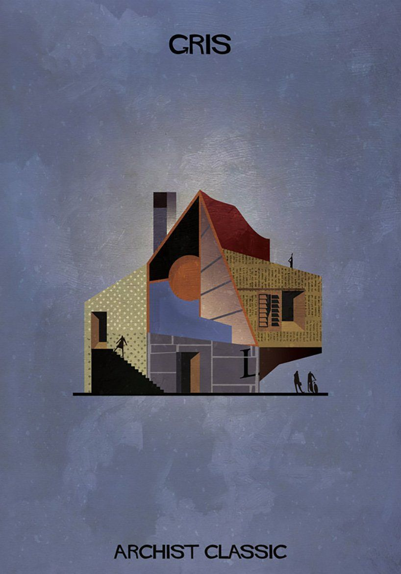 federico babina captures famous artists as architectural illustrations -   - #Architectural #ArtLessons #artists #babina #captures #Design #famous #FamousArtists #federico #illustrations #InteriorDesign