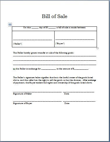 Printable Sample Sample Bill Of Sale Form Real Estate Forms - affidavit template word