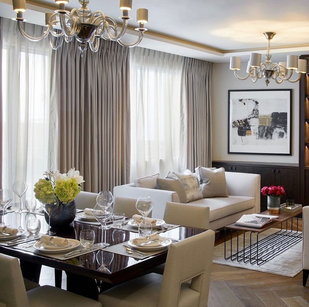 "Interior Design ▪️ Home Decor on Instagram: ""Design: @celineinteriordesign  Follow @olla_home for more inspiration❤️ . . . . . #diningtable #diningroomdecor #diningroomdesign…"""