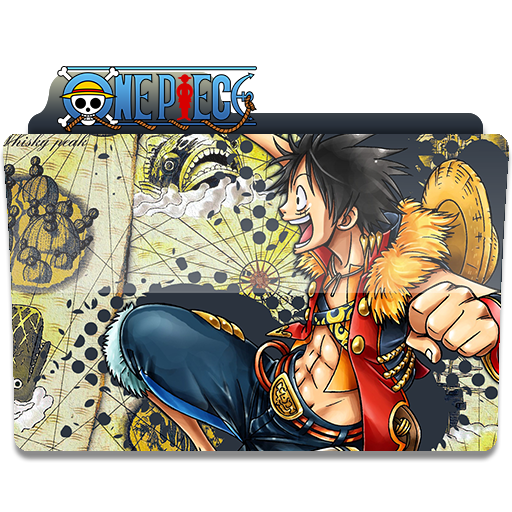 One piece folder icon Monkey d luffy, Luffy, Barbe noire