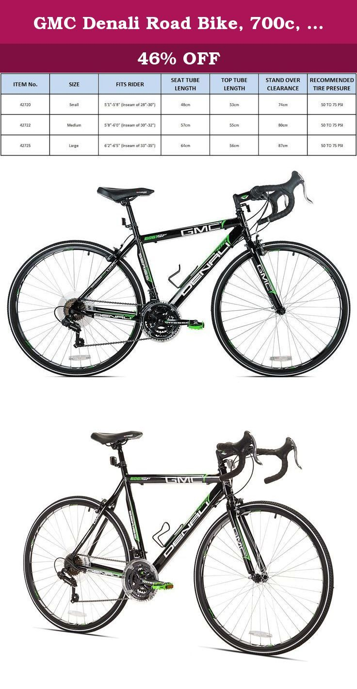 Gmc Denali Road Bike 700c Black Green Large 63 5cm Frame The Gmc Denali 700c 21 Speed Road Bike Is Built Around A L Road Bike Frames Bike Frame Racing Rims