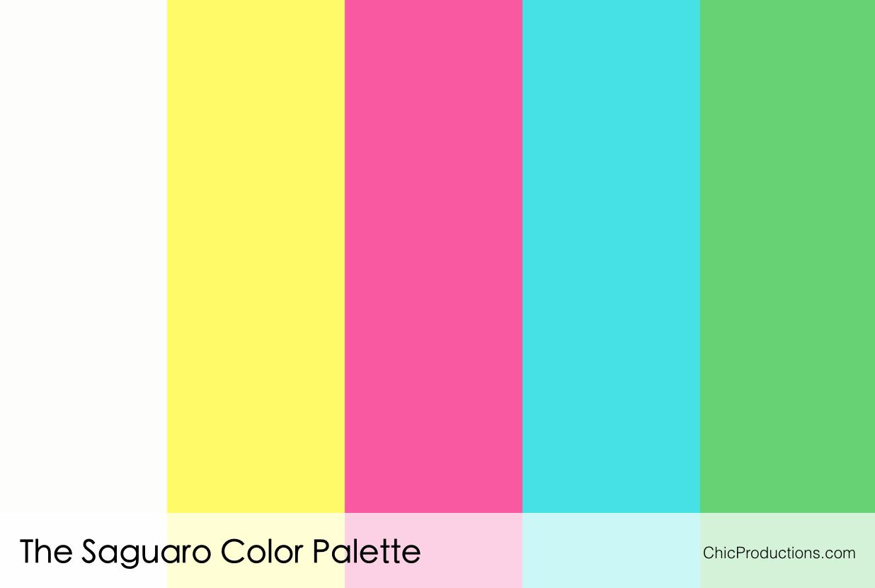 The Saguaro Color Palette Chic Productions Palm Springs