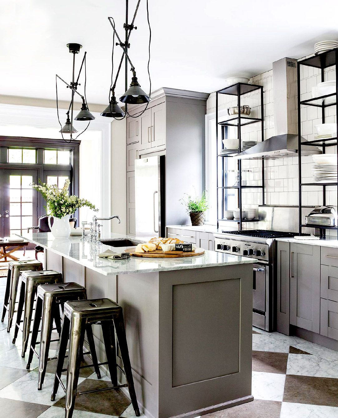 The Most Stylish IKEA Kitchens We\'ve Seen | Marble island ...