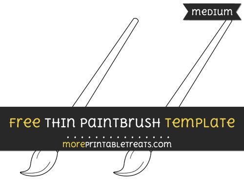 free thin paint brush template medium shapes and templates
