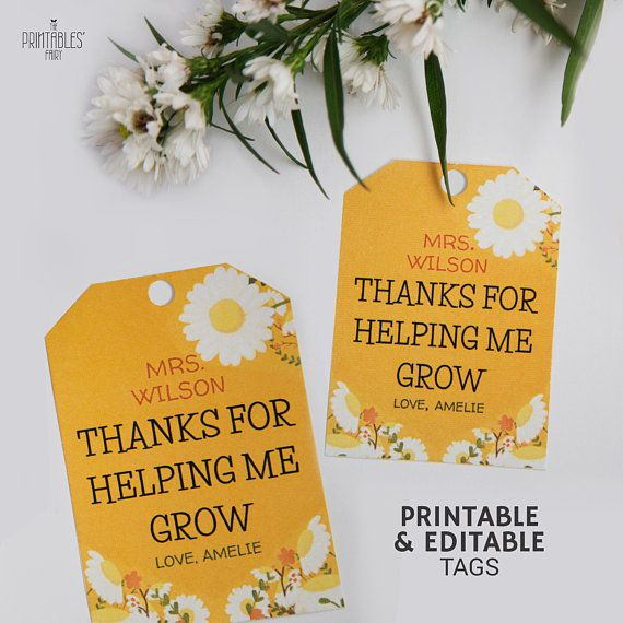 Thanks For Helping Me Grow Quotes: This Thanks For Helping Me Grow Printable Is Perfect If