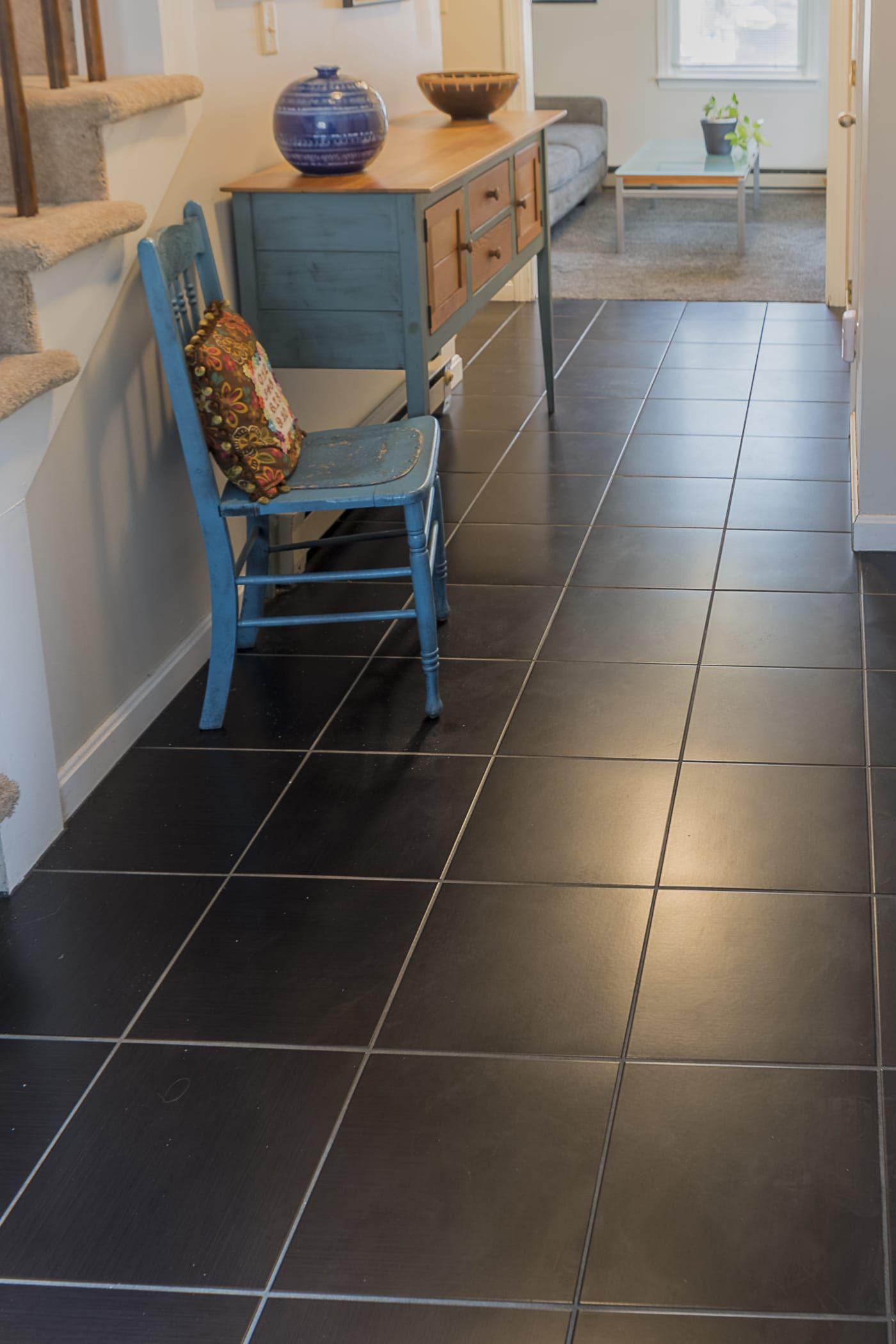 Portland condo living hallway square porcelain tile black portland condo living hallway square porcelain tile black dailygadgetfo Image collections