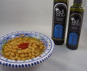 Lablabi - Spicy Tunisian Chickpea Stew.   Can be made Vegan.  Best with lots of high quality EVOO!