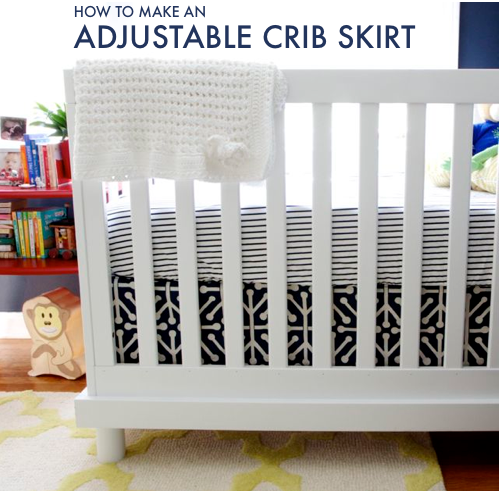 Adjustable Diy Crib Skirt This Is What I Ve Decided On