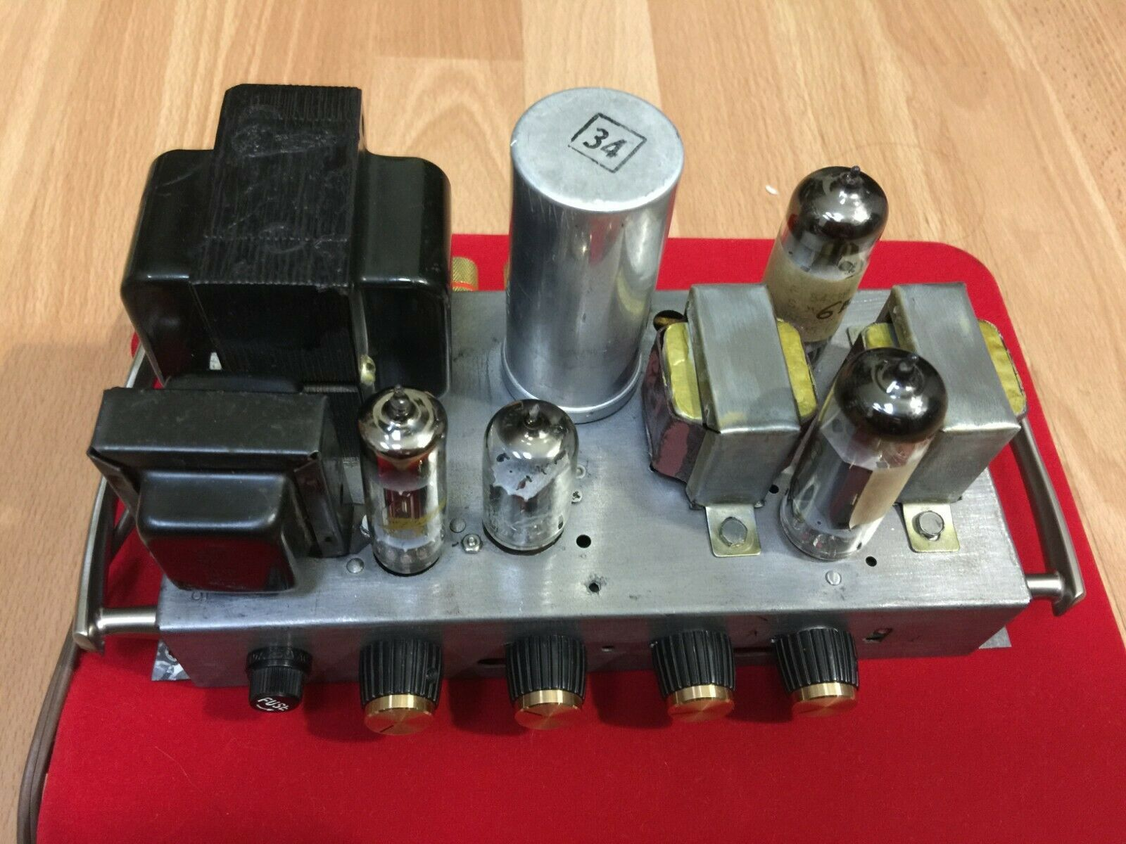 Vintage Stereo Zenith Tube Amplifier 6bq5 El84 Works Plug And Play