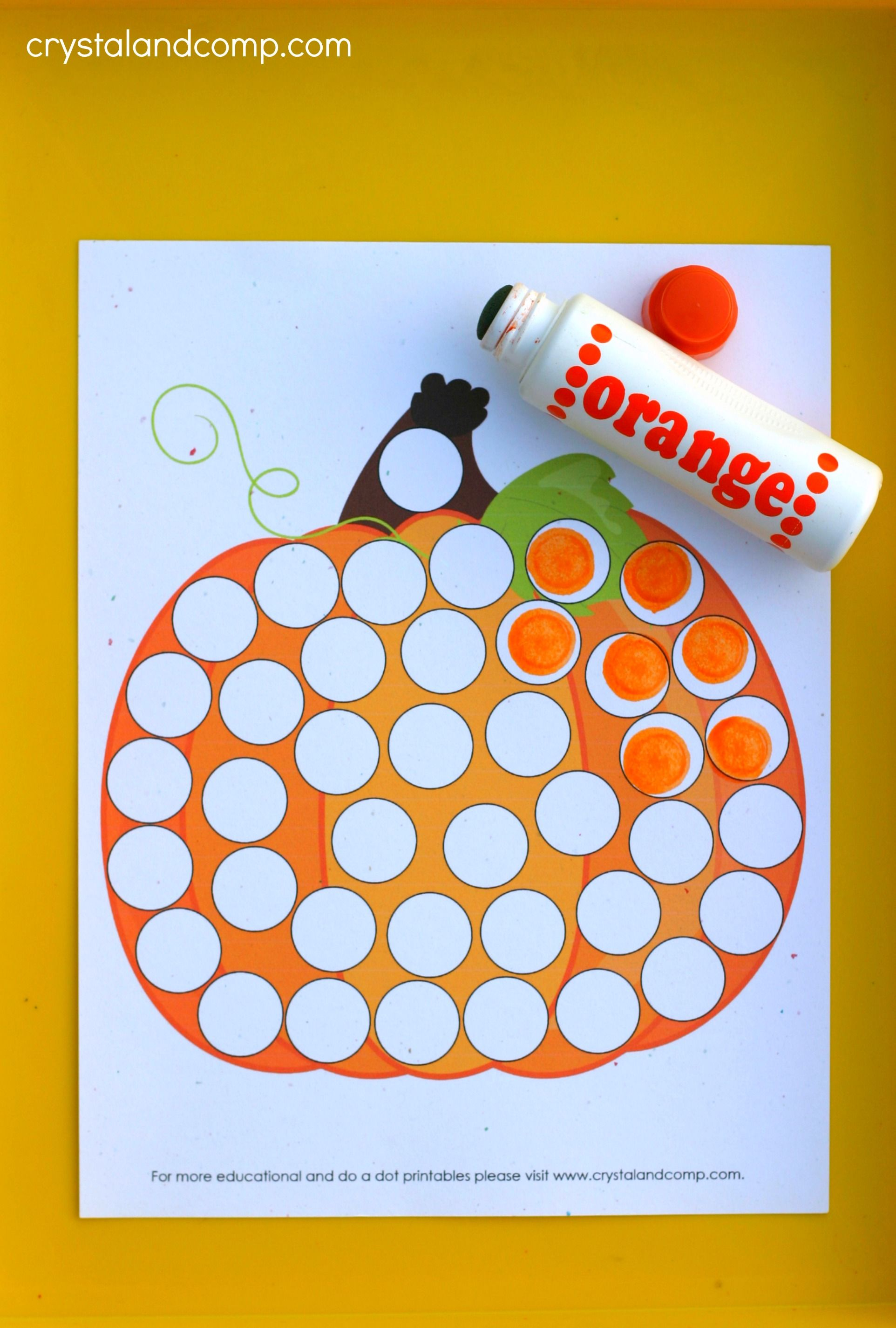 Pumpkin Do A Dot Printables For Preschoolers
