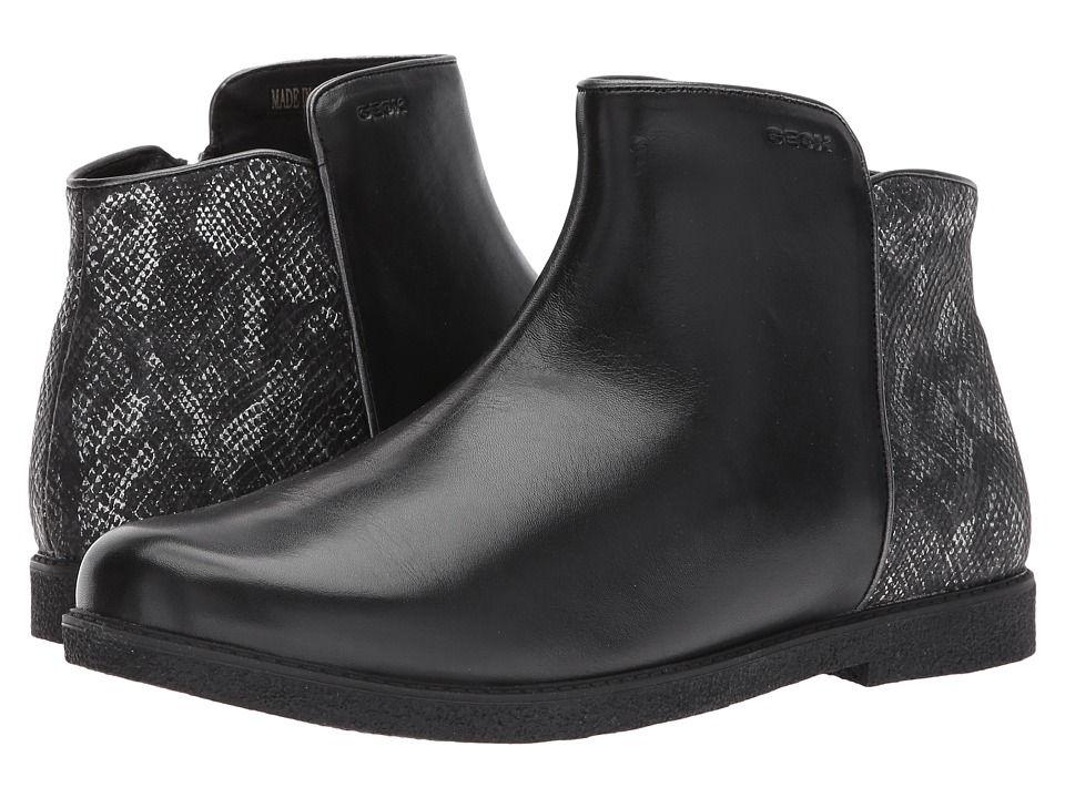 8c287a292a7c Geox Kids JR Shawntel Girl 2 (Big Kid) Girl s Shoes Black