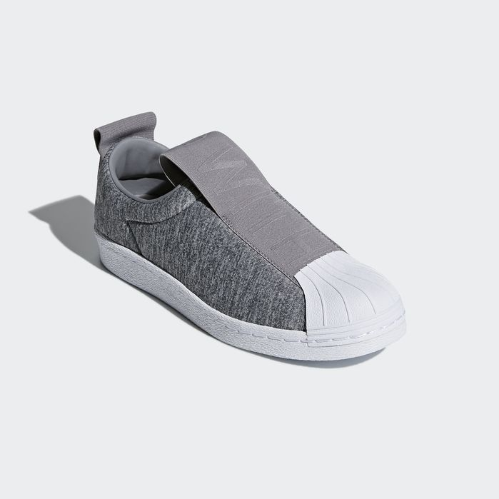 online store a6364 79b4d Superstar BW3S Slip-on Shoes Grey 10.5 Womens Adidas Superstar Slip On,  Superstars Shoes
