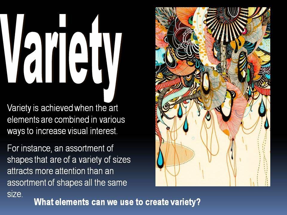 Principles of Art , Variety