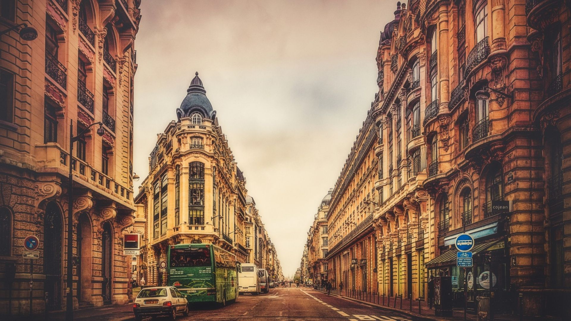 Обои улица, здания, фонари, красота, лестница. Города foto 6