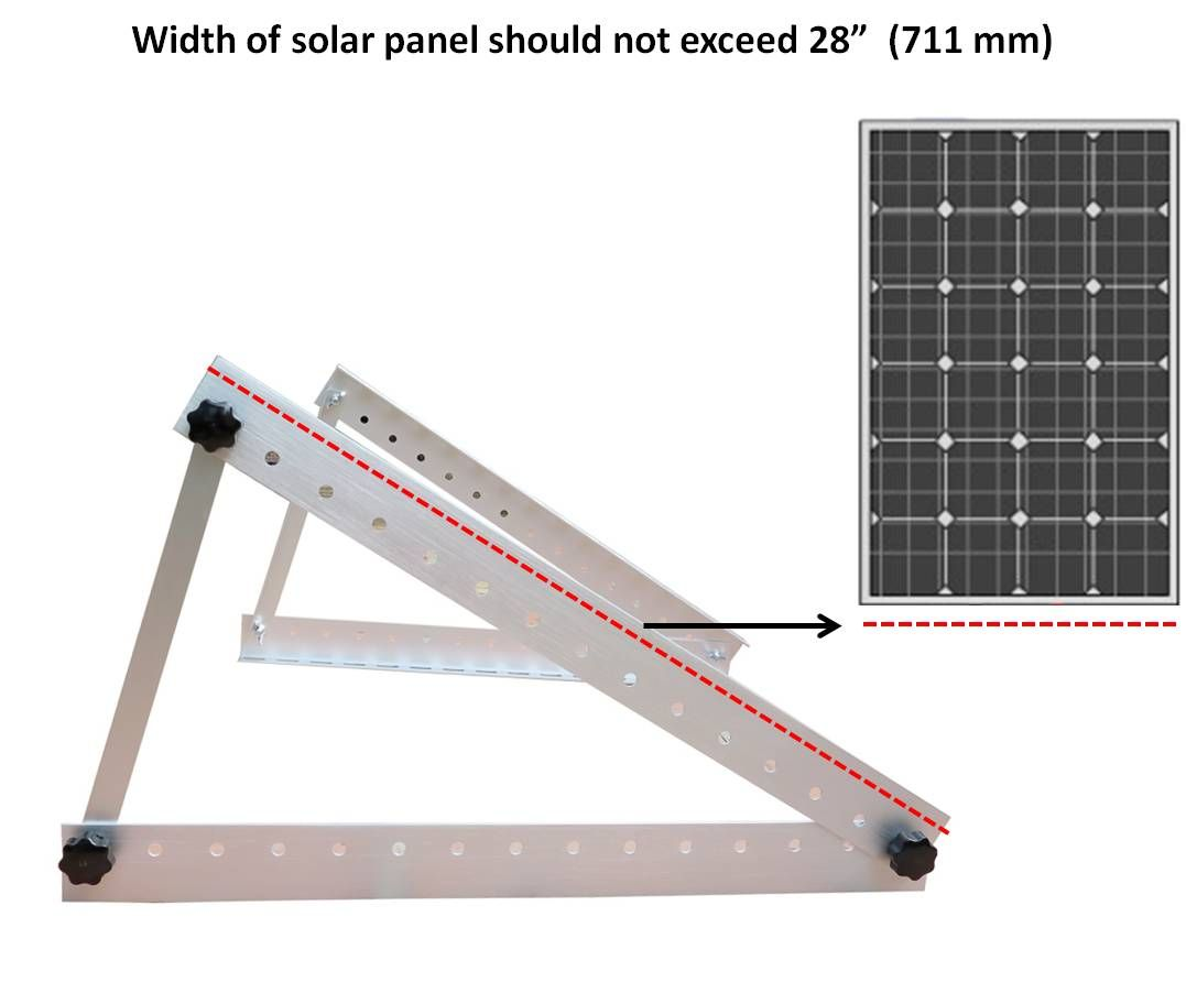 Diy Solar Panel Mount Adjustable Solar Panel Mount Mounting Rack Bracket Boat