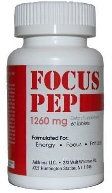 Addrena Focus Pep Energy Supplements For Nootropic Brain Boosting