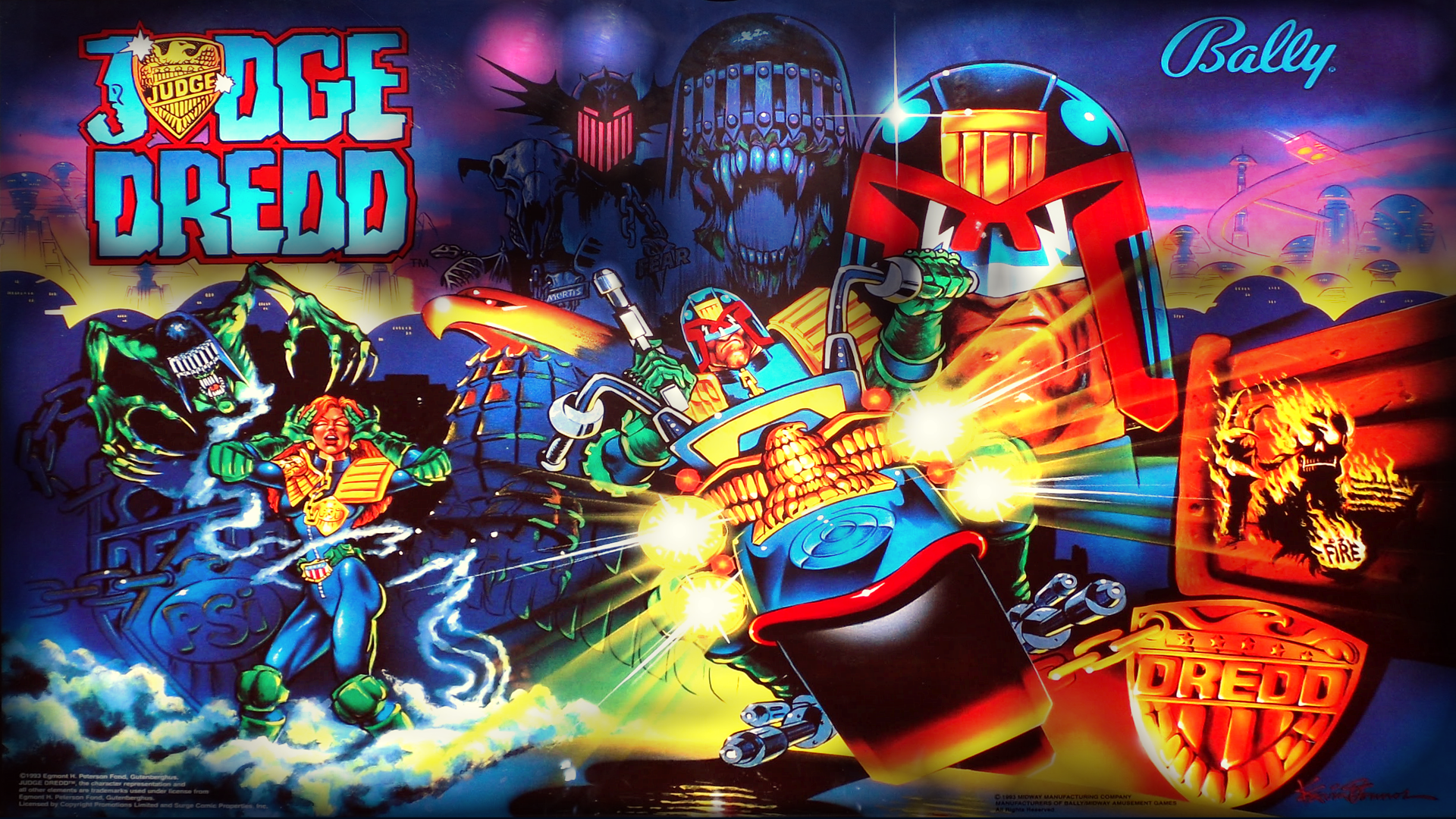 sneakers los angeles great look Judge Dredd VPX - MONSTER BASH PINCAB | Judge dredd, Pinball ...