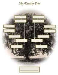 free family tree templates suitable for framing homeschool