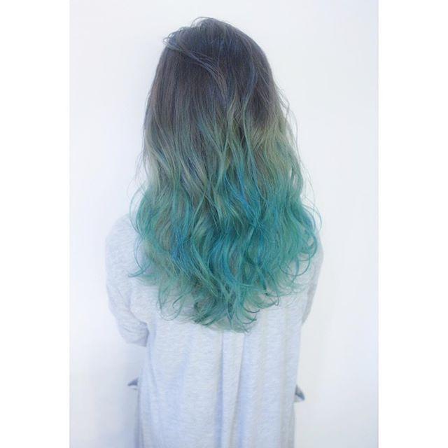 Shachu Hair ミントブルーのグラデーション Shachu Hair