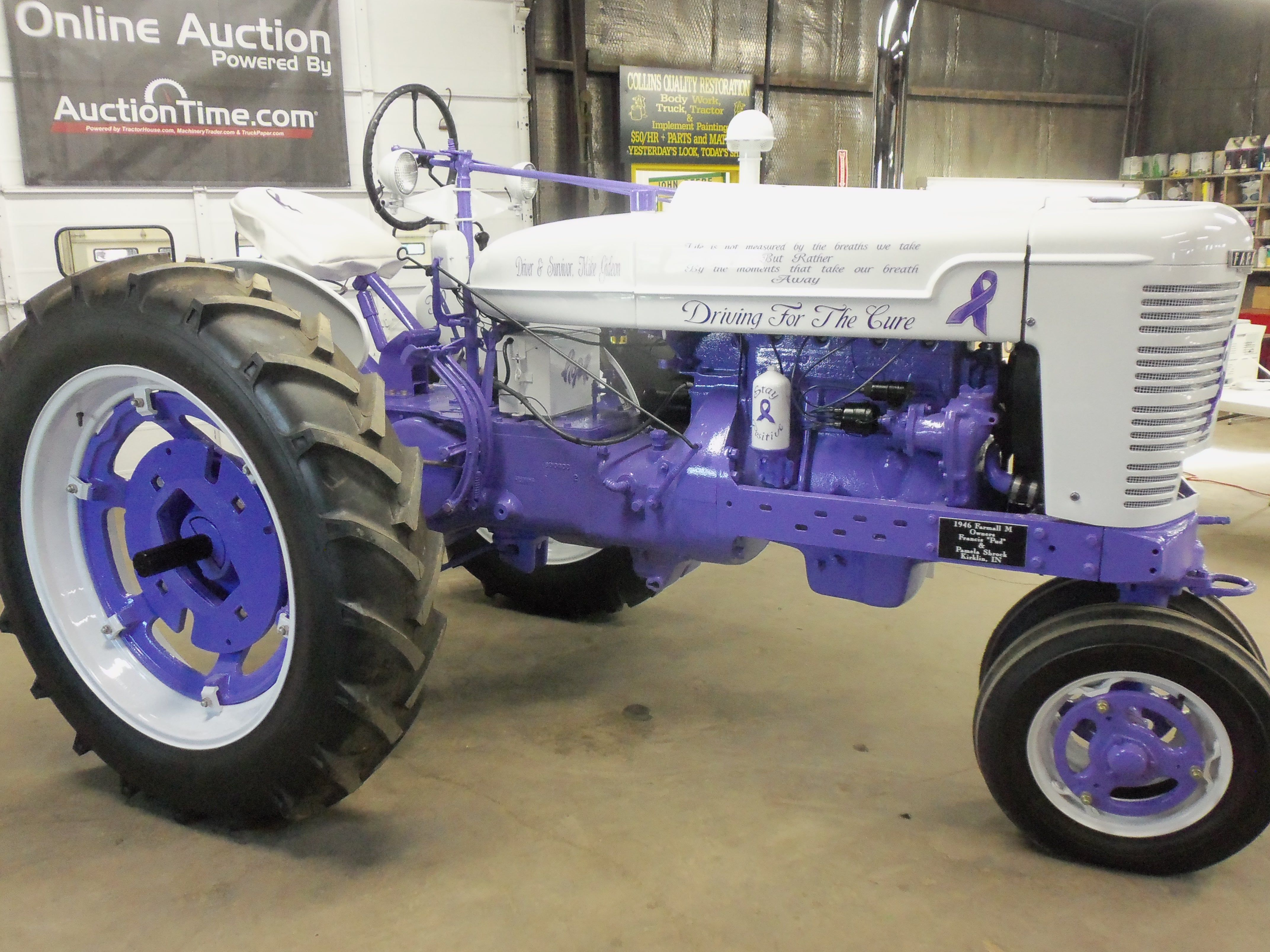 best images about tractors john deere station right side of white purple 1946 farmall m in thorntown