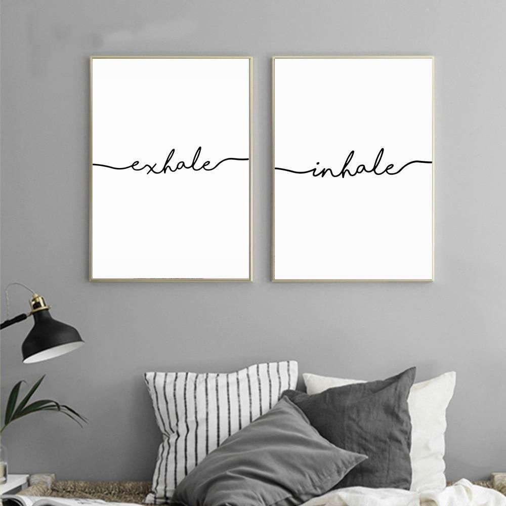 Inhale | Exhale - Wall Canvas Poster #inhaleexhale