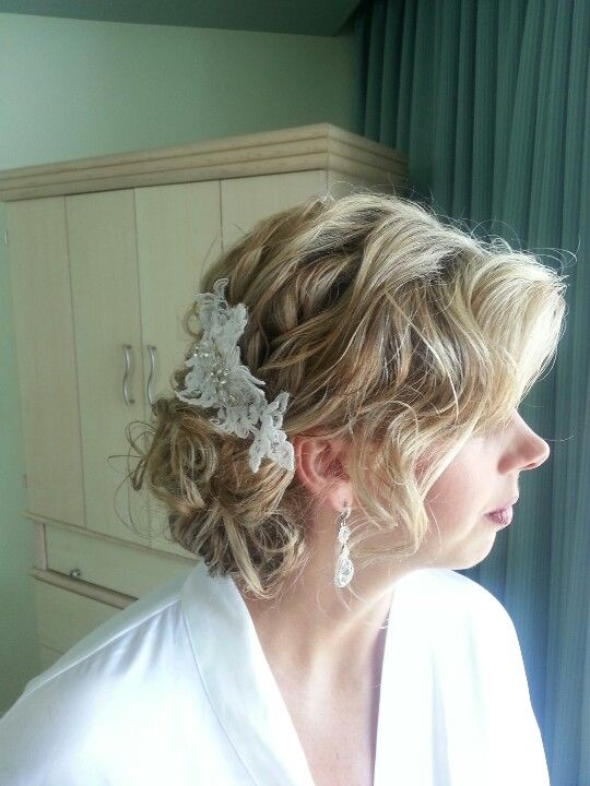 Beach casual hair ready for beach wedding.